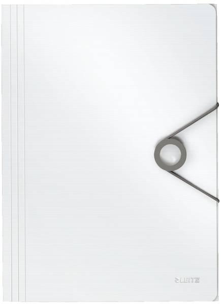 4563 Dreiflügelmappe Solid A4, PP, weiß