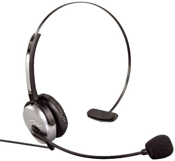 HAMA Headset Kopfbügel sw/sil 40625 f. DECT