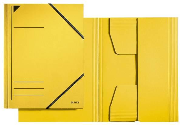 3981 Eckspannermappe A4, 250 Blatt, Pendarec Karton (RC), gelb