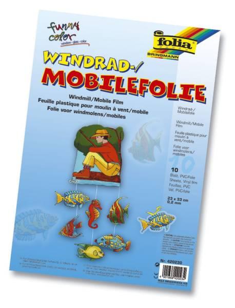 Fensterfolie Mobile, 0,2 mm, 10 Stück, 23x 33 cm