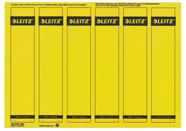 1686 PC beschriftbare Rückenschilder Papier, kurz schmal, 150 Stück, gelb