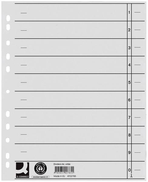 Trennblätter durchgefärbt A4 Überbreite, weiß, 100 Stück