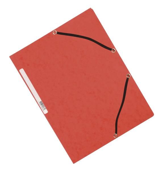 Eckspanner Karton A4 mit Gummizug rot