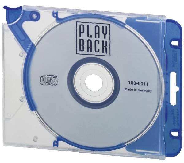 DURABLE CD Leerhülle Quick Flip blau 5 Stück 5269 06 m. Abheftclip