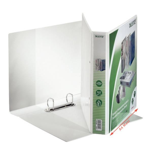LEITZ Präsentationsringbuch A4 weiß 42800001 30mm 2Ringe