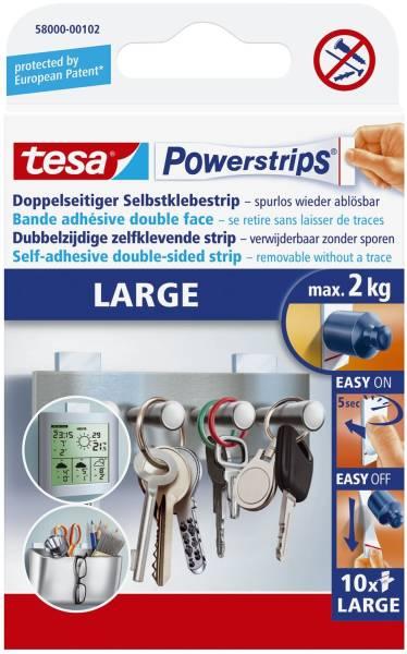 Powerstrips Large ablösbar, Tragfähigkeit 2 kg, weiß, 14 Stück®