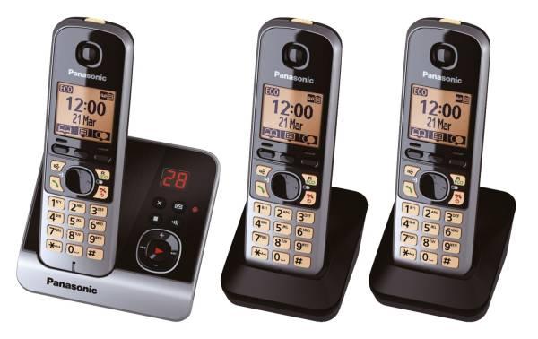 Telefon KX TG6723GB schnurlos titan schwarz