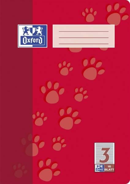 Heft A4 16 Blatt Lineatur 3 mit Rand