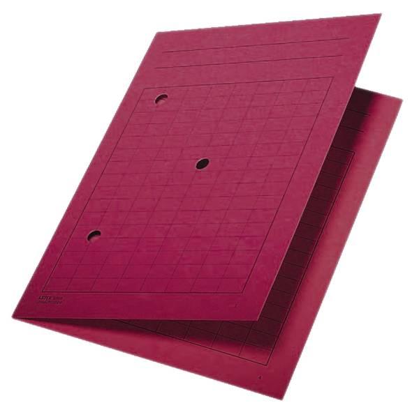 3998 Umlaufmappe, A4, Gitterdruck, Manilakarton 320 g qm, rot