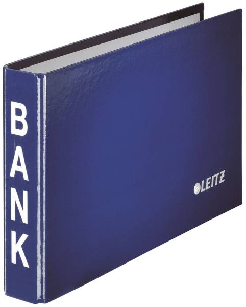 1002 Bankordner, 2 Ringmechanik, 20 mm, blau