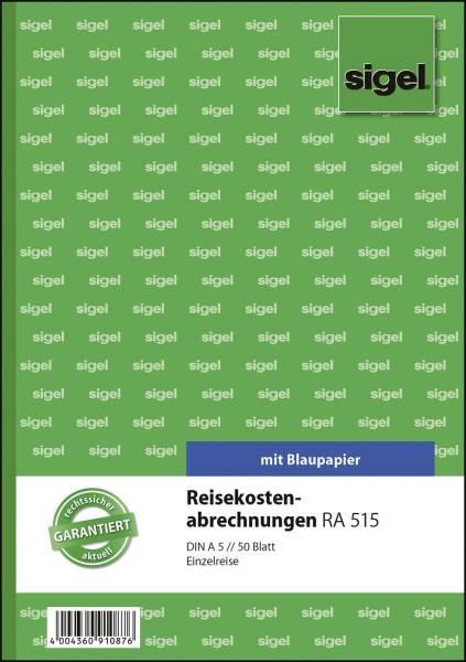 Reisekostenabrechnungen für Einzelreisen A5, SD, MP,50 Blatt