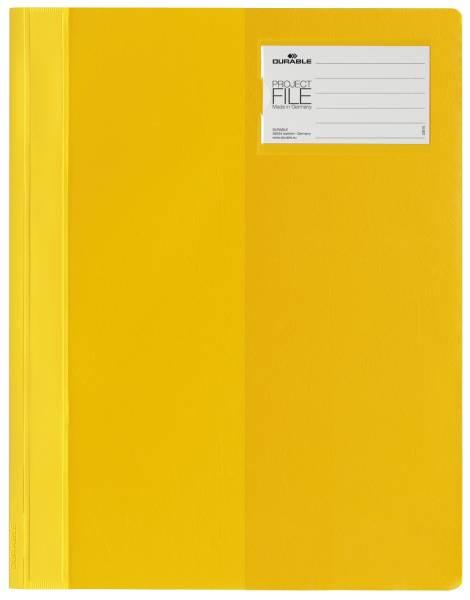 Sichthefter PROJECT FILE Beschriftungsfenster, A4, gelb