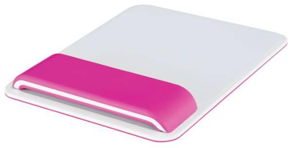 LEITZ Mausmatte Ergo WOW weiß/pink 6517-00-23 höhenverstellbar