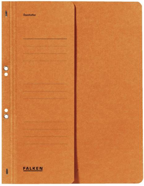 FALKEN Ösenhefter A4 orange 1/2 Deckel 80000516