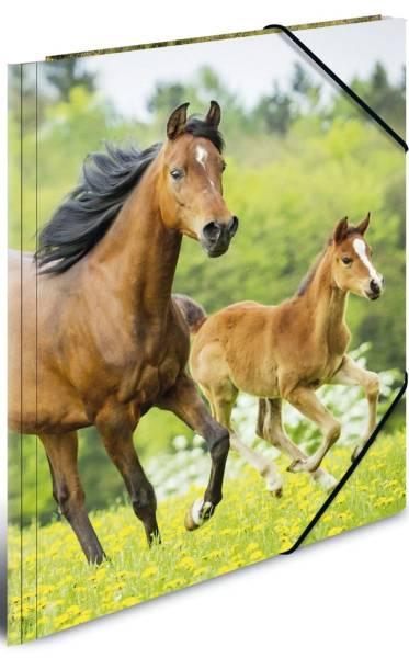 HERMA Gummizugmappe A4 Pferde 7140 PP