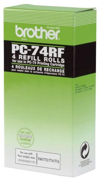 Thermotransfer Rollen schwarz, 144 Seiten, PC74RF®