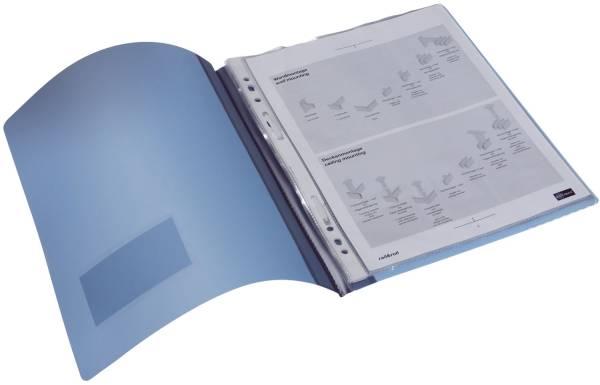 Schnellhefter DURALUX A4 überbreit, transluzente Folie, blau®