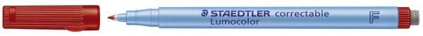 STAEDTLER Folienstift Lumocolor 0,6 rot 305 F-2 correctable