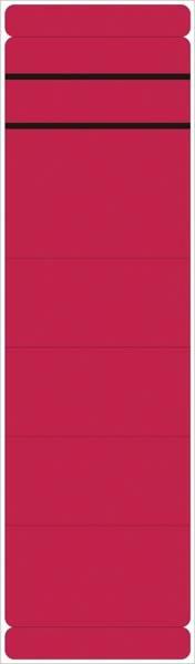 Ordner Rückenschilder breit kurz, 10 Stück, rot