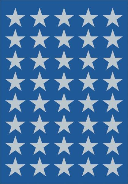 3417 Sticker DECOR Sterne 5 zackig, silber Ø 13 mm
