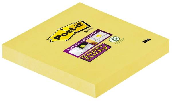 POST-IT Haftnotizblock 76x76mm kan.gelb 65412SY 90Bl SupSticky