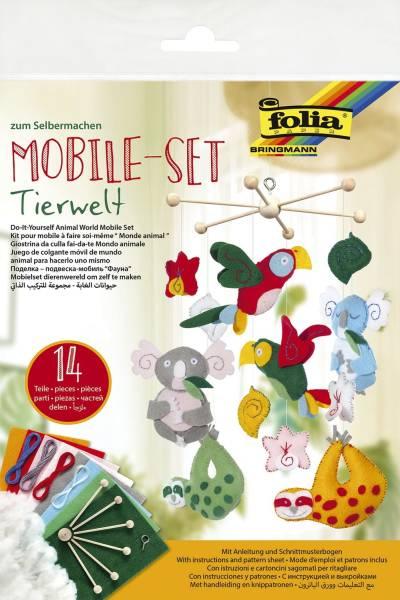 FOLIA Bastelset Mobile Tierwelt 22869 14tlg.
