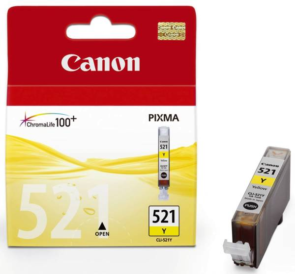 CANON Inkjetpatrone CLI-521 yellow 2936B001 9ml