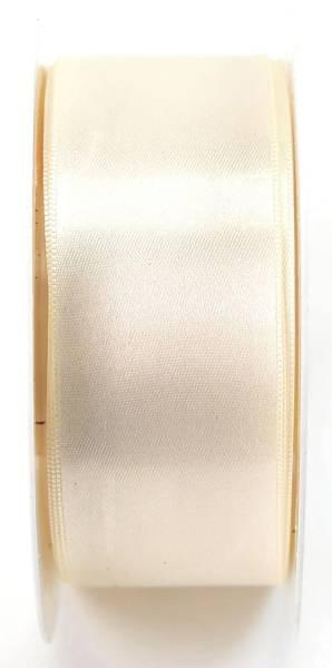 GOLDINA Doppelsatinband 40mmx25m creme 81720400210025