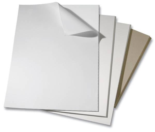 Bristolkarton weiß, 50 x 65 cm, 924g qm