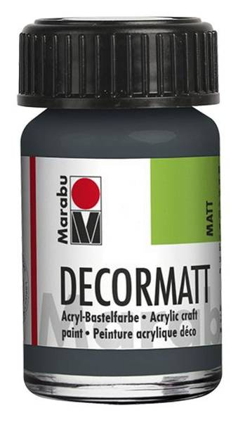Decormatt Acryl, Dunkelgrau 079, 15 ml