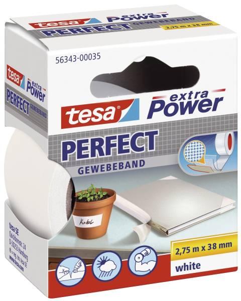 TESA Gewebeband 38mmx2,75m weiß 56343-00035-03