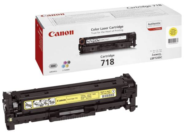 CANON Lasertoner EP-718 yellow 2659B002/2659B014