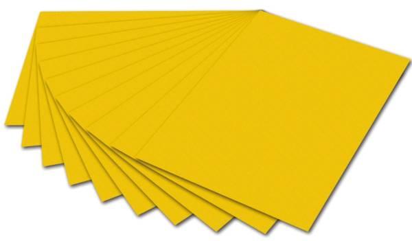 Tonpapier 50 x 70 cm, goldgelb