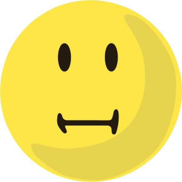 Moderationskarte Wertungssymbol, Gesicht neutral, gelb, 100 Stück