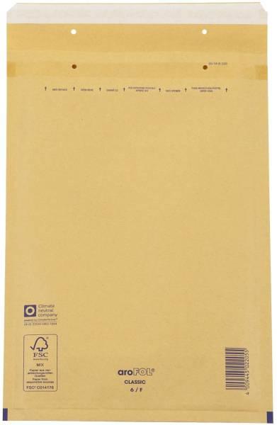 Luftpolstertaschen Nr 6, 220x340 mm, goldgelb braun, 100 Stück
