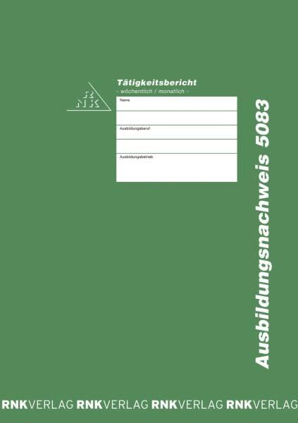 Ausbildungsnachweis Heft wöchentlich monatlich, alle Berufe, 56 Seiten, DIN A4