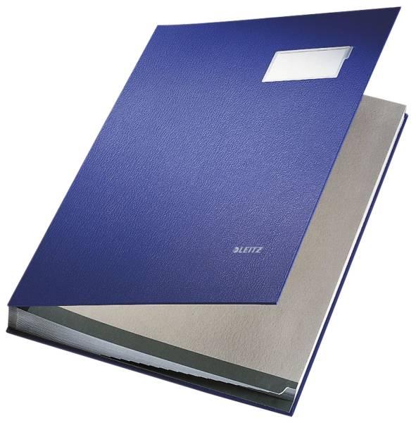 LEITZ Unterschriftsmappe 20 Fächer blau 57000035 Einband PP-kaschiert