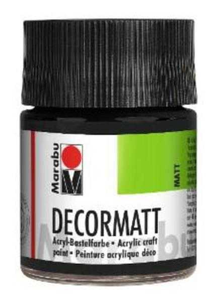 Decormatt Acryl, Schwarz 073, 50 ml