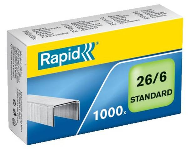 Heftklammern 26 6 Standard, verzinkt, 1000 Stück