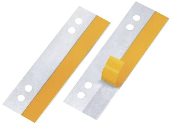 HEFTFIX, 105 mm lang, Hartfolie sk, Lochabstand 60 u 80 mm, 100er SB Pckg glasklar®