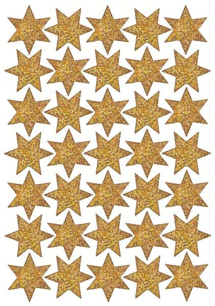 Schmucketikett Stern 16mm gold