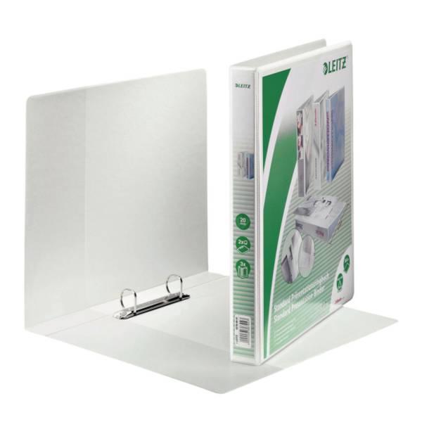 LEITZ Präsentationsringbuch A4 weiß 42780001 20mm 2Ringe
