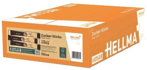 HELLMA Zuckerstick 1000x4g schwarz/weiß 60120623