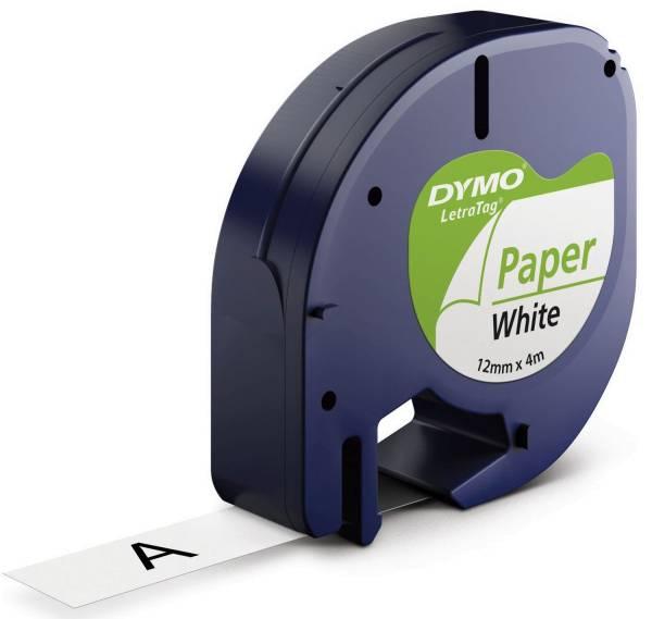DYMO Prägeband weiß/schwarz S0721510 12mm 4m