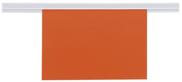 Wandklemmschiene selbstklebend, 100 x 2,6 cm, weiß