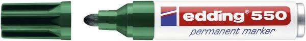 EDDING Permanentmarker 550 3-4mm grün 550-004 Rundspitze nachfüllbar