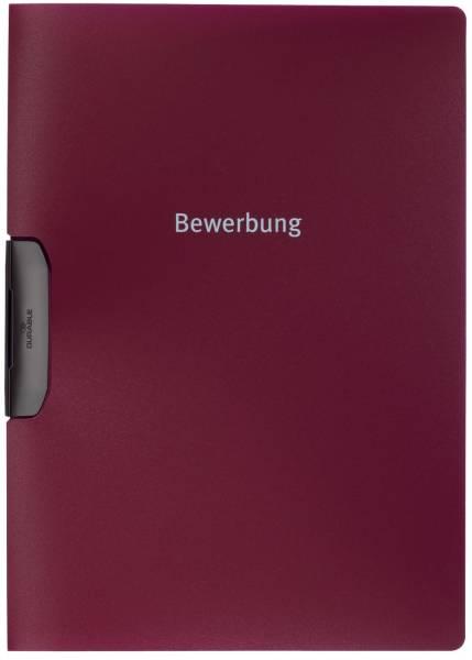 Bewerbungsmappe DURASWING JOB, Polypropylen, 30 Blatt, aubergine d rot®