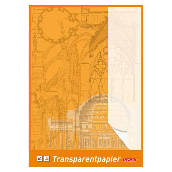 HERLITZ Transparentpapierblock A3 25BL weiß 696302 65g/qm