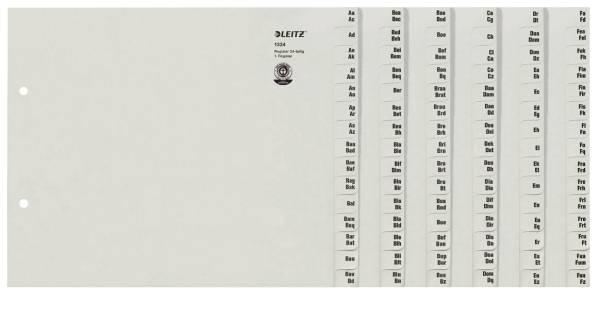 1324 Registerserie A Z, Papier, A4 Überbreite, für 24 Ordner, grau