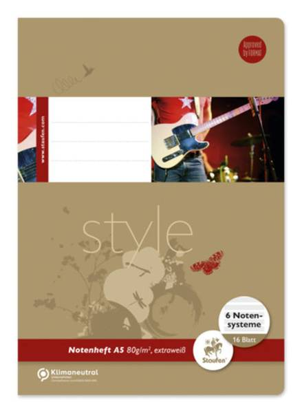 STAUFEN STYLE Notenheft A5 16BL Lin.14 040516014
